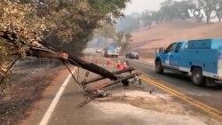 加州電力公司關閉北部用戶電源遏止野火蔓延