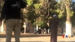 2015-09-27 美國之音視頻新聞: 巴勒斯坦人與以色列警察在阿克薩清真寺發生衝突
