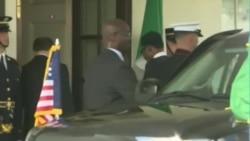Shugaba Muhammadu Buhari da Shugaba Barack Obama A Ofishin Shugaban Amurka Da Ake Kira Oval Office A Fadar White House