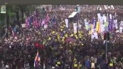 香港民众在2019年8月举行的一次三罢行动