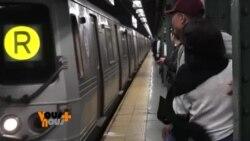 Les déçus des élections expriment leur désarroi sur les murs du métro new-yorkais