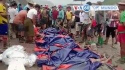 Manchetes mundo 2 julho: Deslizamento de terras no Mianmar