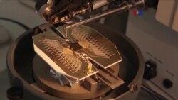 Primer plano de computadora cuántica