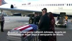 Llegan a Miami restos de soldado abatido en Níger