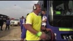 CAN 2017 : l'équipe de foot Gabon s'entraîne