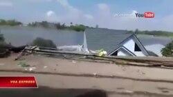 Sạt lở sông ở An Giang, nhiều người 'tháo chạy'
