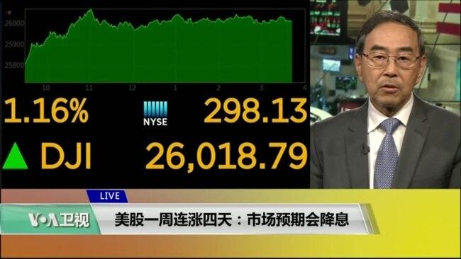 VOA连线(方冰):美股一周连涨四天:市场预期会降息
