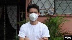 El joven Ángel Gabriel Martínez, quien padece de leucemia, teme por su vida en Nicaragua debido a las pocas medidas que se han tomado en el país contra la pandemia de coronavirus.