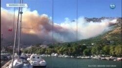 Marmara Adası Yangını'nda 80 Hektar Ormanlık Alan Kül Oldu