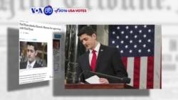 """VOA60 Elections - WP: House Speaker Paul Ryan said President Barack Obama """"degraded the presidency"""""""