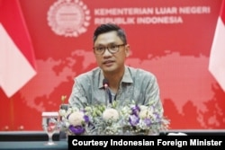 Daniel Tumpal Simanjuntak, director for Africa in the Indonesian Foreign Ministry, said details of trials of vaccines from South Korea are still under discussion. (Courtesy Indonesian Foreign Minister)