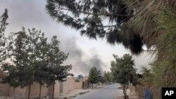 阿富汗安全部隊對塔利班控制的赫爾曼德省省會拉什卡爾加發動空襲(2021年8月6日)