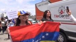 Protestan venezolanos en Estados Unidos