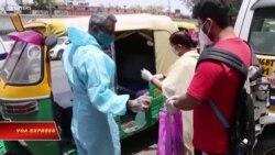 'Bão COVID' tại Ấn Độ: Xe lam biến thành xe cứu thương