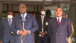 Tshisekedi alobi pene na Sassou ete CACH na FCC ya Kabila ezali kokabwana te (Vidéo)