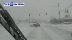 VOA60 America - Wintry Storm Ices Roads Across Much of US Southeast