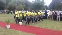A Dance Troupe Entertains Visitors as Auxillia Mnangagwa Tours Children's Home