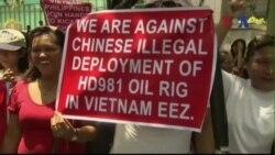Người dân Việt, Philippines biểu tình chung chống Trung Quốc