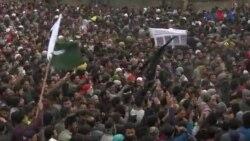 سرینگر میں مظاہرے، شہرمیں کرفیو نافذ کر دیا گیا