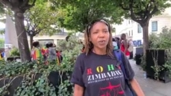 Protester on Deportation of Zimbabweans