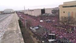Gần nửa triệu người biểu tình 'nhuộm hồng' thủ đô Hoa Kỳ