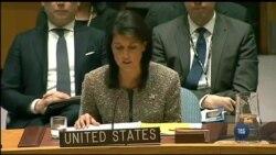 Ніккі Гейлі закликала країни світу розірвати дипломатичні відносини з КНДР після останнього запуску Пхеньяном ракети. Відео
