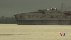 美國海警隊在南中國海菲律賓前沿水域參與聯訓