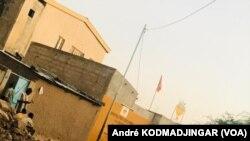Polisi wa Chad wakiwa ofisi za makao makuu ya upinzani huko Ndjamena