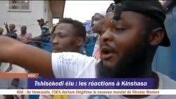 Liesse des partisans de Félix de Tshisekedi à Kinshasa