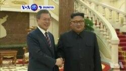 VOA60 Duniya: Shugaban Koriya Ta Arewa Kim Jong Un Da Takawaran Aikinsa Na Koriya Ta Kudu Moon Jae-in Sun Gana A Pyongyang