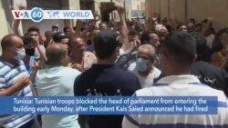 VOA60 Addunyaa - Tunisia's President Suspends Parliament For 30 Days