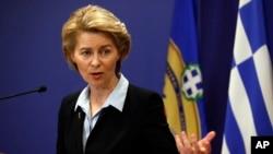 L'Allemande Ursula von der Leyen, candidate désignée pour la présidence de la Commission européenne.