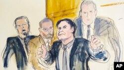 La fiscalía estadounidense logró cadena perpetua por los 10 delitos de que se le acusa y 30 años adicionales por portar armas de fuego, lo máximo estipulado por la ley.