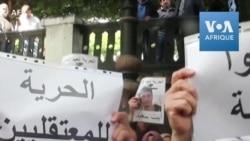 Des manifestants algériens réclament la libération d'étudiants arrêtés
