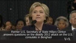 Hiilaaruu Kiliinten haleellaa bara 2012 embasii Ameerikaa kan Bengaazii irratti raawwate ilaalchisee gaafii dhiyaateef deebii kennan.