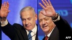 Izraelski premijer Benjamin Netanjahu i njegov bivši rival Beni Ganc