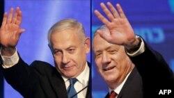 Benjamin Netanyahu na Benny Gantz bazakurikirana mu kuyobora guverinoma ya Isirayeri
