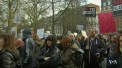 Protesters in London Rally Against Trump, Travel Ban