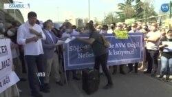 Kadıköylülerden Söğütlüçeşme İstasyonunda AVM Planına Protesto