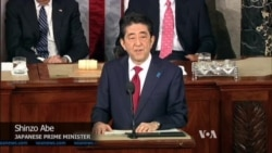 Abe Addresses US Congress, Dogged by Wartime 'Comfort Women' Issue