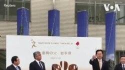 无惧病毒威胁和政府警告 日本民众围观奥运圣火
