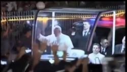 教宗訪問菲律賓,受到熱烈歡迎