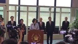 蔡英文:没有人能够磨灭台湾的存在