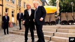 Predsednik Evropske komisije Žan-Klod Junker i britanski premijer Boris Džonson pred sastanak u Luksemburgu 16. septembra 2019.