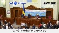 Ukraine mặc niệm nạn nhân nổ khí metan ở mỏ than (VOA60)