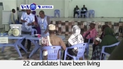 VOA60 Africa - Somalia: Long-awaited presidential elections take place on Wednesday