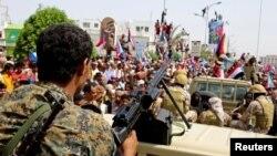 عکس آرشیوی از نیروهای جدایی طلب جنوب یمن که از حمایت امارات متحده عربی برخوردار هستند.
