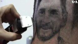 Siêu sao Messi và Ronaldo trên mái tóc người hâm mộ