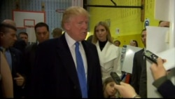 Trump 'Very Excited' as He Arrives to Vote in Manhattan, NY