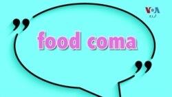 انگلش اِن اے منٹ: آج کا محاورہ ہے Food Coma